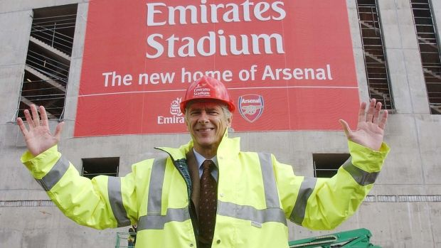Arsène Wenger was a key player in Arsenal's move to the Emirates. Photograph: Sean Dempsey/PA