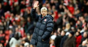 Arsene Wenger guided his team through a record 823 games, winning three Premier League titles and a total of seven FA Cup titles. Photograph: PA
