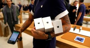 Apple's shares fell 3 per cent on Thursday. Photograph: Peter Nicholls/Reuters