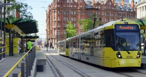 The Metrolink  tram/light rail system in Greater Manchester. Although battling with legacy transport issues, things are beginning to change for the better. Photograph:  Getty Images