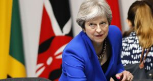 A newspaper report has claimed British prime minister Theresa May has been told her plans for avoiding a hard border in Northern Ireland will not work. Photograph: AFP