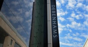The Irish subsidiary of Debenhams, which trades out of 11 department stores, said it would not pay a dividend to its parent company this year after turnover fell 5.5 per cent to €170 million last year. Photograph: Eric Luke