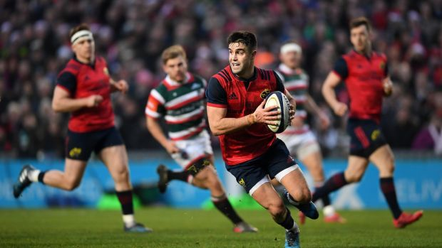 Conor Murray: such is his strength, he hardly ever loses possession in contact, even if tidying up loose ball off the deck, or attaching himself to a ruck to secure the ball. Photograph: Laurence Griffiths/Getty Images