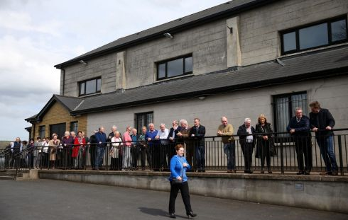 A TRIBAL FEELING: People queue to pay their respects to singer Big Tom McBride at Oram Community Centre. Photograph: Brian Lawless/PA Wire