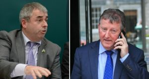 "The row between Kevin ""Boxer"" Moran (left), the current Minister of State at the Office of Public Works, and his predecessor in the post Sean Canney (right) over who should hold it for third year has been unseemly and destabilising."