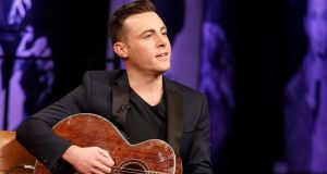 Nathan Carter performs during 'The Late Late Show Country Special'. Photograph: RTÉ
