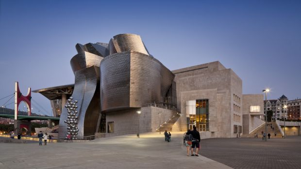 The Guggenheim Museum is one of the main tourist attractions in Bilbao. (Photo: Anthony Weller/View Pictures/UIG via Getty ImageS
