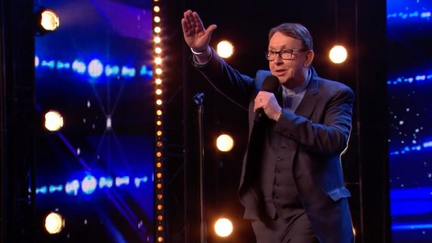 Fr Ray Kelly singing Everybody Hurts on Britain's Got Talent on Saturday night.