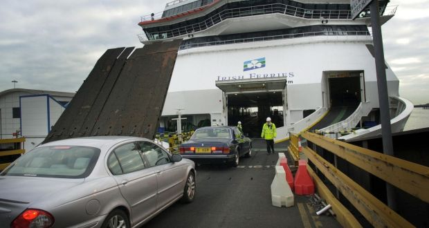 d93cc307a4 Vehicles boarding an Irish Ferries vessel in Dublin port. File photograph   Bryan O