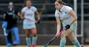 Katie Mullan: scored twice as UCD defeated Ards 7-1 to claim  the Irish Hockey League title.  Photograph: Laszlo Gecczp/Inpho