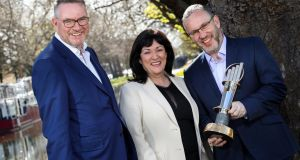 Michael Carey, East Coast Bakehouse; Anne Heraty, CEO CPL Resources; and Kevin McLoughlin, partner lead for the EY EOY programme. Photograph: EY