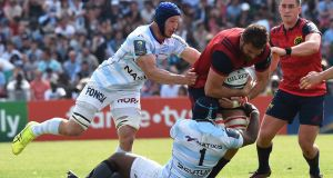 Munster's South African lock Jean Kleyn in action at the Chaban-Delmas Stadium in Bordeaux. Photograph: Getty Images