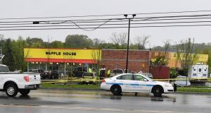 The gunman, armed with what was described as an AR-15 style assault rifle, walked into the Waffle House restaurant in Antioch, in suburban Nashville, shortly before 3.30am (9.30am Irish time). Photograph: Jason Davis/Getty Images