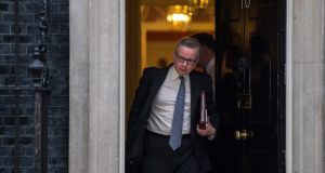 "Britain's environment secretary Michael Gove ""fully supports the prime minister's position"" on  leaving the customs union.   Photograph:  Chris J Ratcliffe/Getty Images"