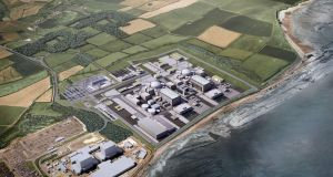 A computer generated image of the Hinkely Point C reactor in southwest England. File photograph: Hayes Davidson/AFP/Getty Images