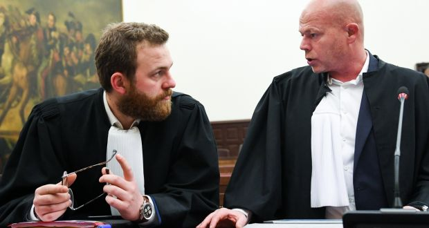 Lawyers Romain Delcoigne And Sven Mary Representing Pariss Suspect Salah Abdeslam In Court