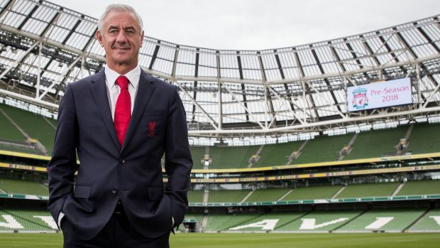 Ian Rush was at the Aviva Stadium to promote the upcoming friendly between Liverpool and Napoli. Photo: Oisin Keniry/Inpho