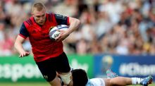 "Munster's Keith Earls is tackled by Racing 92's Henry Chavancy in Bordeaux. ""We knew they could get tired in the last 20 or30 minutes."" Photograph: James Crombie/Inpho"