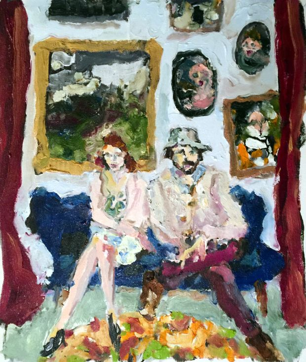 Bradley Wood's painting of Rebecca O'Connor and Will Govan
