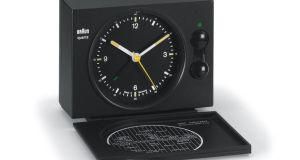 The Braun AB 20/20 travel clock boasts perfect simplicity.