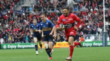 Bryan Habana scores a try against Leinster in the 2015 Champions Cup semi-finals. Photograph: Billy Stickland/Inpho