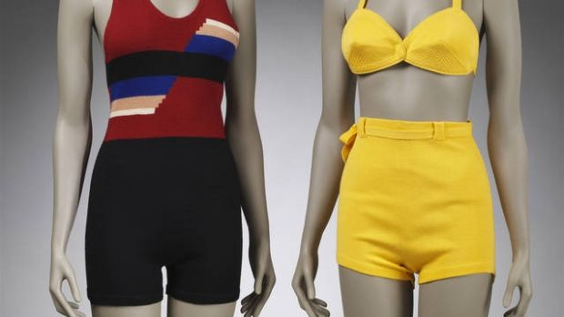 Bathing suits: high fashion on the high seas.
