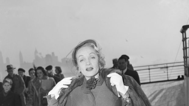 Marlene Dietrich on board. Photograph: Courtesy of V&A
