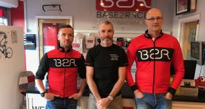 Base2Race triathlon store founders Cian McGrath, Dominic O'Hanlon and Paul O'Connor