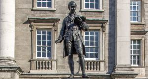 Statue of Oliver Goldsmith at Trinity College Dublin. Photograph: iStock