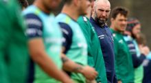 John Muldoon with his Connacht team-mates during training at the Sportsground on  Tuesday. Photograph: James Crombie/Inpho