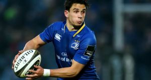 Joey Carbery in action for Leinster: it looks like  Carbery or  Ross Byrne  will be coerced into leaving their boyhood team. Photograph: James Crombie/Inpho