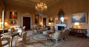 A drawing room at Ballyfin Demesne in Co Laois which has been named Irish hotel of the year 2018 by the AA. Photograph: James Fennell