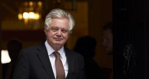 Britain's Brexit secretary David Davis said he was confident a technology solution can be found to maintain open border.