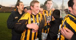 Crossmaglen's Francie Bellew celebrating  the club's victory in the Ulster club football  final of 2008. Photograph: Cathal Noonan/Inpho