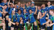 The Leinster team celebrate their Heineken Cup Final win in 2011.  Photograph: Dan Sheridan/Inpho