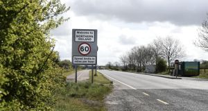 Border country: one of the 208 crossings between the Republic and Northern Ireland. Photograph: Charles McQuillan/Getty