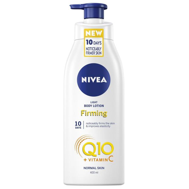 Nivea Q10 + Vitamin C Firming Body Lotion (€5.99 at Boots)