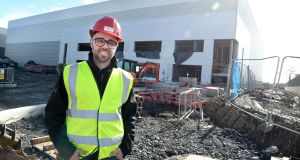 Vitor Ferreira, from Portugal, works with Collen Construction, in health and safety. Photograph: Dara Mac Dónaill