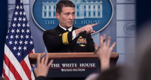 White House physician Rear Admiral Ronny Jackson: faced a series of accusations about his workplace conduct, including that he recklessly prescribed drugs and exhibited drunken behaviour. Photograph: Nicholas Kamm/AFP/Getty Images