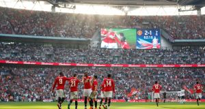 The English FA have received an offer to buy Wembley Stadium. Photograph: Carl Recine/Reuters