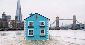 Radical Markets: The floating house was launched by accommodation website Airbnb to celebrate new rules on home sharing which allow people to share their homes with travellers for up to 90 days a year. Photograph: Mikael Buck/Airbnb/PA Wire