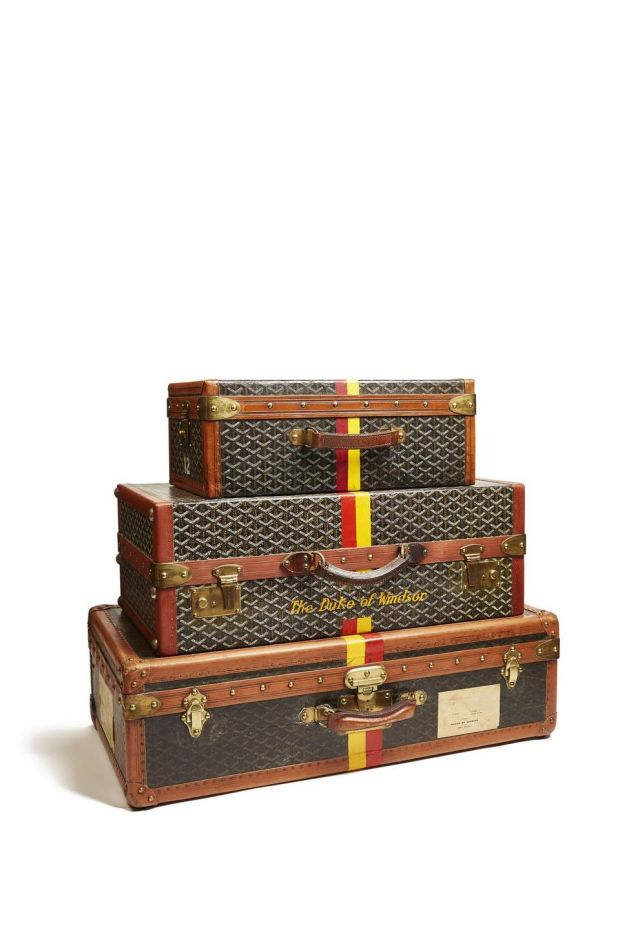 Luggage used by the Duke and Duchess of Windsor. Photograph: Courtesy V&A