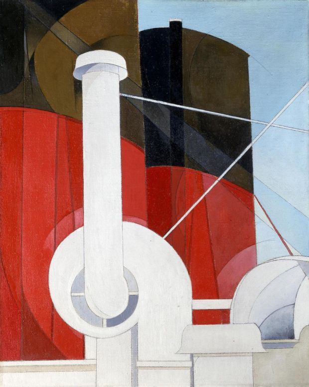 Paquebot Paris poster by Charles Demuth from the early 1920s