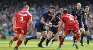 James Ryan in action against Scarlets. Leinster are ruthless in their support of their ball-carrier. Time and again the Leinster ball-carrier entered contact on his terms.  Photograph:  David Rogers/Getty Images