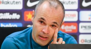 Andres Iniesta has announced he will leave Barcelona at the end of the season. Photograph: David Ramos/Getty