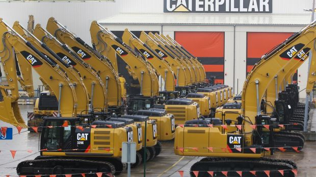 Caterpillar is regarded as a bellwether for the industrial sector and the market as a whole. Photograph: EPA/ Julien Warnand