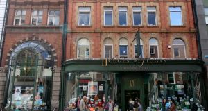 Twist in the tale: Waterstones-owned Hodges Figgis on Dawson Street, Dublin. Photograph: Nick Bradshaw