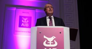 AIB chairman Richard Pym at bank's agm. Photograph: Sam Boal/RollingNews.ie