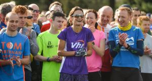 Sonia O'Sullivan in Cabinteely ahead of her 100th parkrun. Photograph: Sportsfile