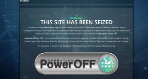 Screen grab dated 25/04/18 of an Operation Power OFF holding page which has replaced the webstresser.org website.  Photograph: Operation Power OFF/PA Wire